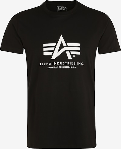 ALPHA INDUSTRIES Print-Shirt in schwarz, Produktansicht