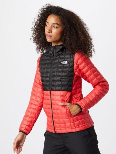 THE NORTH FACE Outdoorová bunda - jasně červená / černá: Pohled zepředu