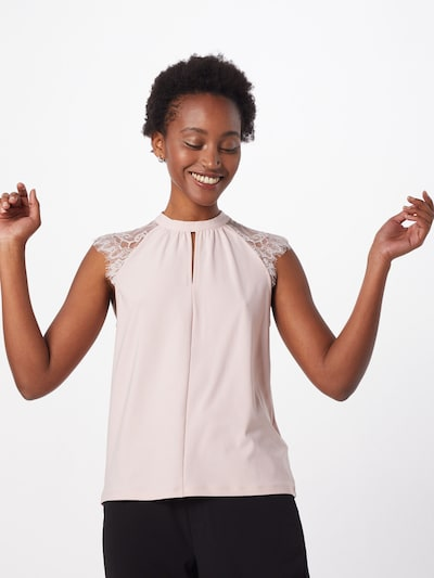 VERO MODA Blusentop 'VMMILLA SL LACE TEE KEY GA VO' in rosa, Modelansicht