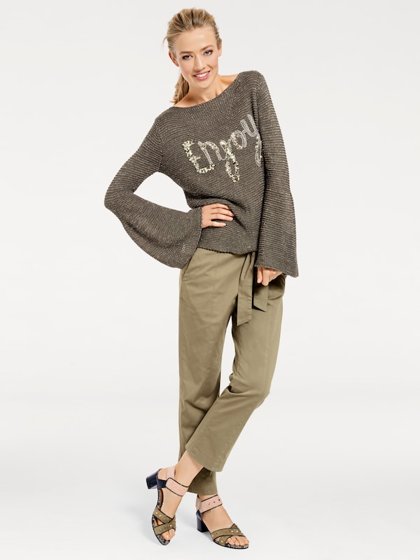 Bc Best Connections By Heine Crew-neck Sweater With Shiny Effect