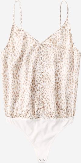 Tricou body Abercrombie & Fitch pe bej / crem / maro deschis, Vizualizare produs