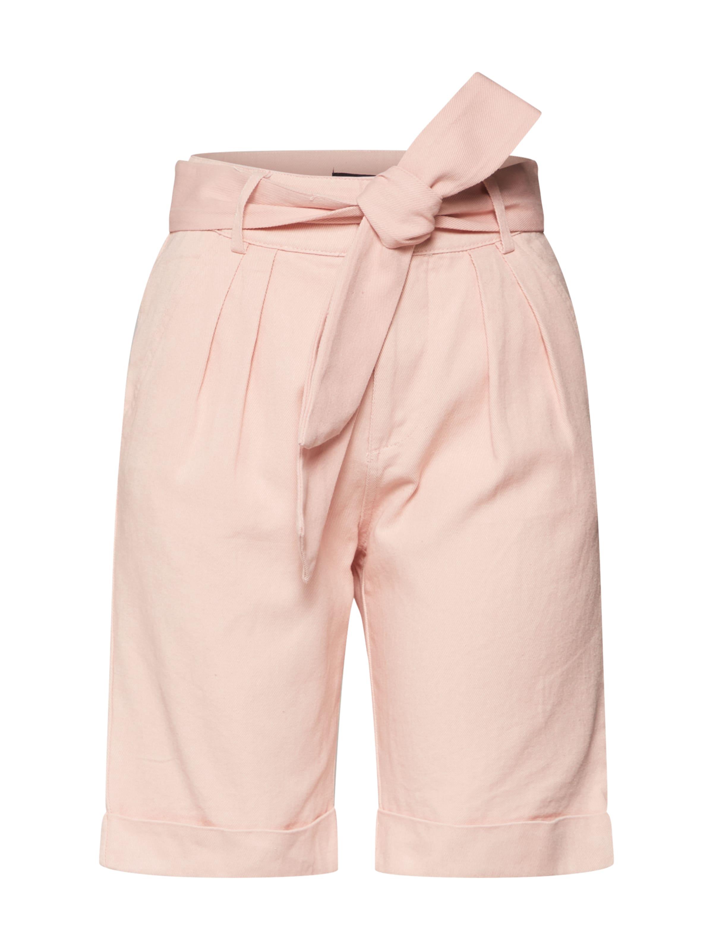 Rose Missguided En Short Pantalon 'belted Up Co Ord Pink' À Pince Turn dCxthQsr
