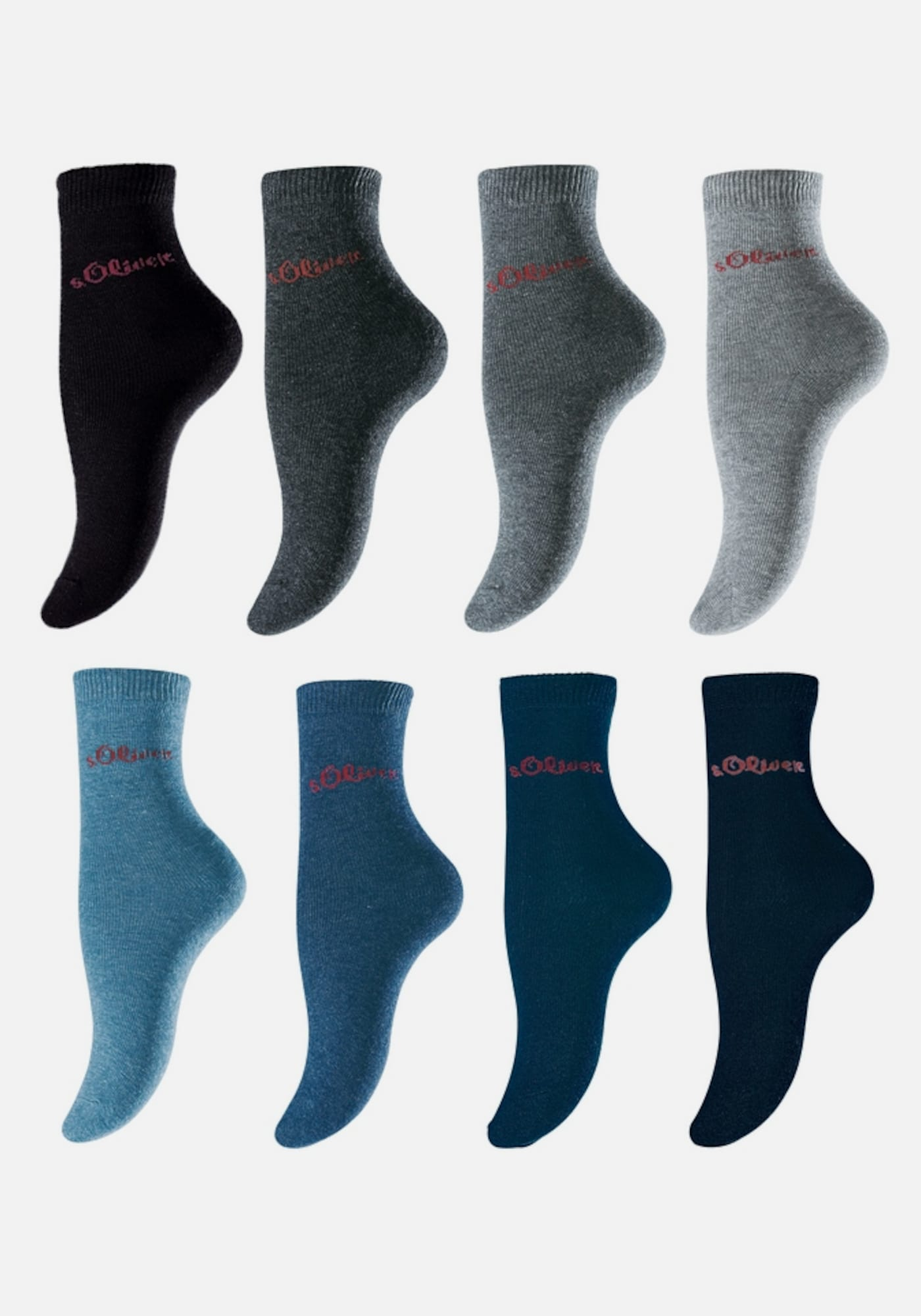 s oliver red label socken 8 paar in blau about you. Black Bedroom Furniture Sets. Home Design Ideas