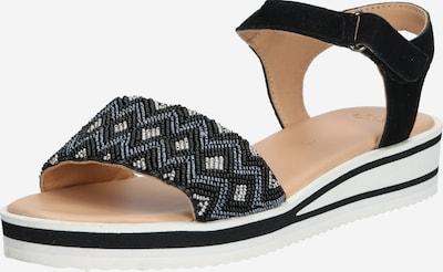 ARA Sandales à lanières en noir / blanc, Vue avec produit