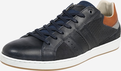 BULLBOXER Sneaker in navy / braun / weiß, Produktansicht