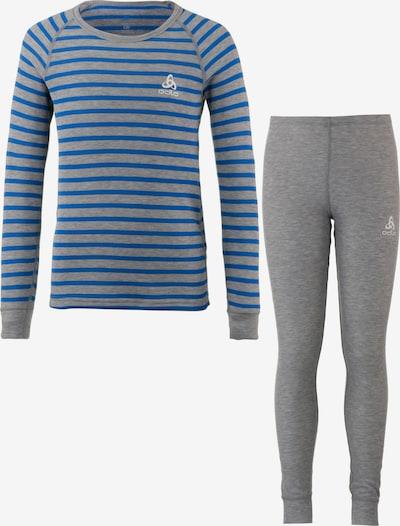 ODLO Wäscheset in blau / graumeliert, Produktansicht