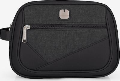 Gabol Kulturbeutel 'Mailer' 28 cm in grau / schwarz, Produktansicht