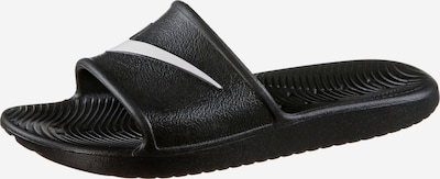 Saboți 'Kawa Shower' Nike Sportswear pe negru / alb, Vizualizare produs