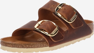 BIRKENSTOCK Pantolette 'Arizona Big Buckle' in cognac / gold, Produktansicht