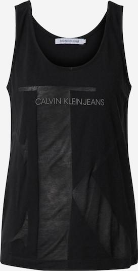 Calvin Klein Jeans Top 'WHITE MONOGRAM SLIM TANK' in schwarz, Produktansicht