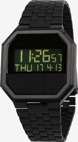 melns Nixon Digitālais pulkstenis 'Re-Run'
