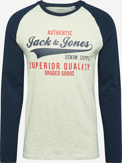 JACK & JONES Shirt in beige / blau, Produktansicht
