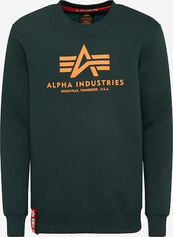 Bluză de molton de la ALPHA INDUSTRIES pe verde