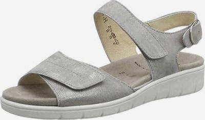 SEMLER Sandale in silbergrau, Produktansicht