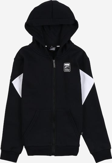 Bluză cu fermoar sport 'Rebel' PUMA pe negru / alb, Vizualizare produs