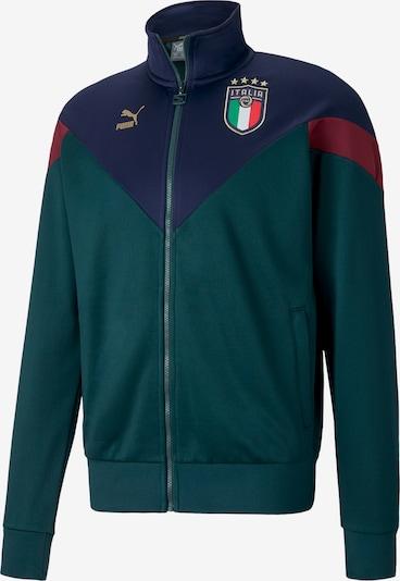PUMA Trainingsjacke 'FIGC Italia Iconic MCS' in navy / gold / grünmeliert / mischfarben / rubinrot, Produktansicht