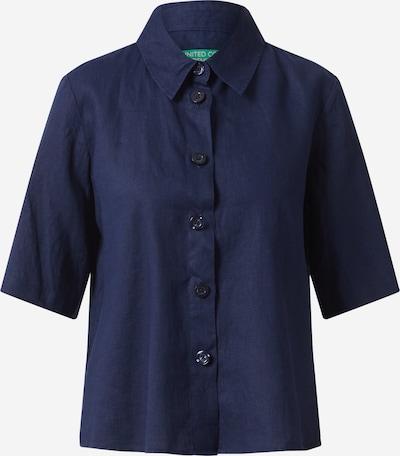 UNITED COLORS OF BENETTON Bluse in dunkelblau, Produktansicht