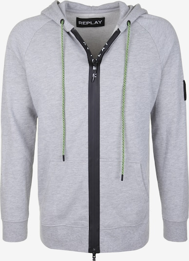 REPLAY Sweatjacke mit Kapuze in grau, Produktansicht