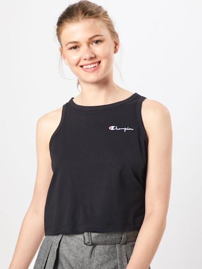 Champion Reverse Weave Top in rot / schwarz / weiß: Frontalansicht