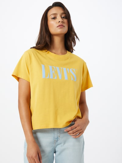 LEVI'S Koszulka 'GRAPHIC VARSITY' w kolorze lazur / żółtym: Widok z przodu