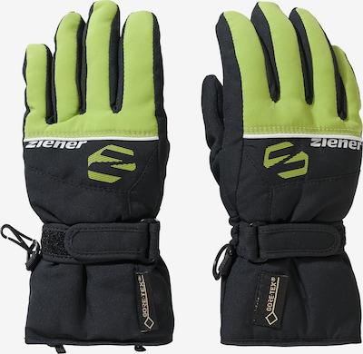 ZIENER Skihandschuhe 'LABER GORE-TEX' in grün / schwarz, Produktansicht