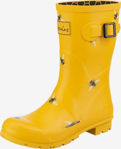 Tom Joule Gummistiefel 'Molly Welly' in gelb / schwarz / weiß, Produktansicht