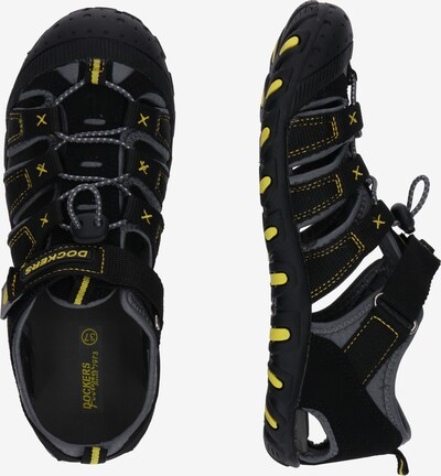 szürke / fekete Dockers by Gerli Nyitott cipők '40TW650': Oldalnézet