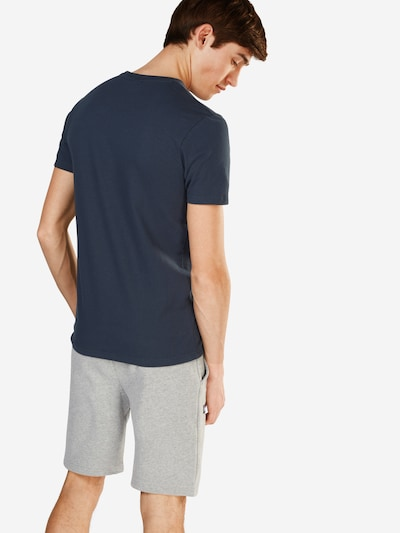 ELLESSE T-Shirt 'CANALETTO' in dunkelblau / orangerot: Rückansicht