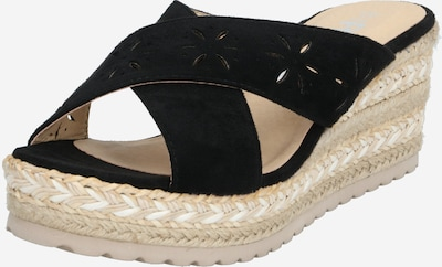 Refresh Pantolette '72254' in sand / schwarz, Produktansicht