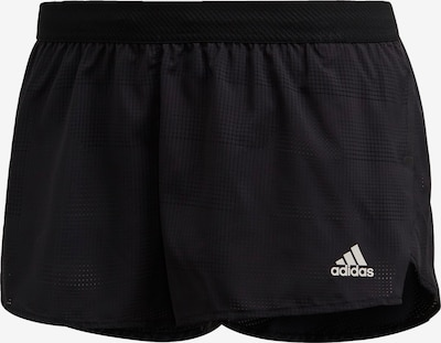Pantaloni sport ADIDAS PERFORMANCE pe negru / alb, Vizualizare produs