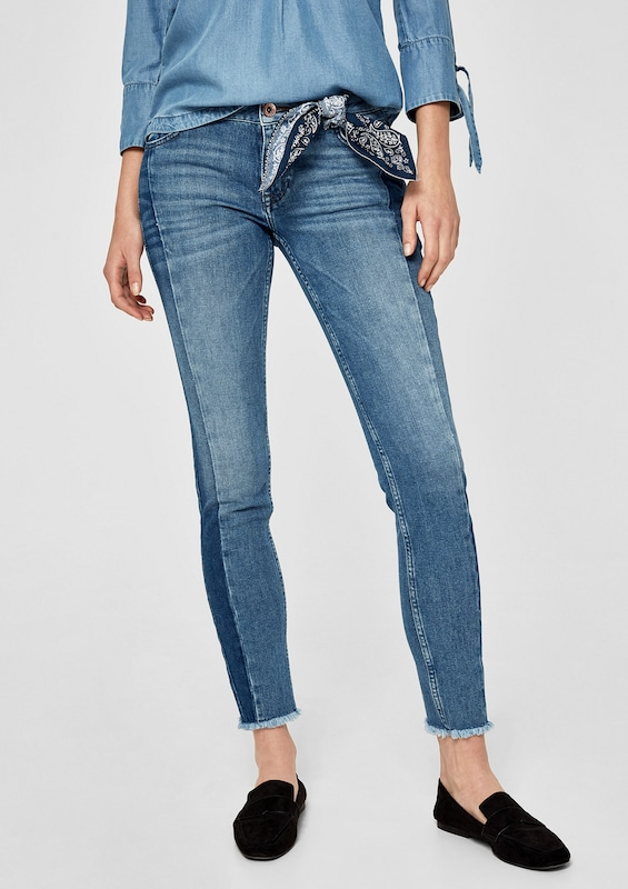S.oliver Red Label Shape Ankle: Patchwork-jeans
