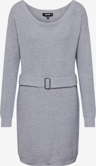 Missguided Sukienka z dzianiny 'Off Shoulder Belted Mini Dress' w kolorze szarym, Podgląd produktu