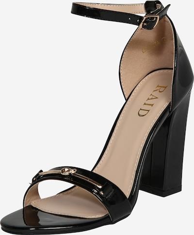 Sandale cu baretă 'Chrysta' Raid pe negru, Vizualizare produs