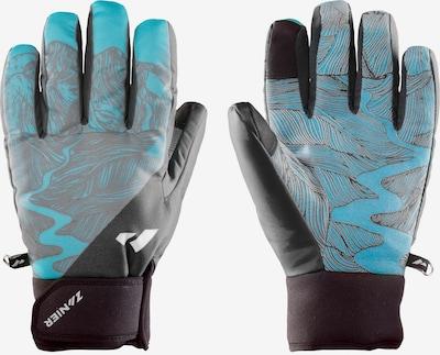 Zanier Handschuhe in aqua / schwarz, Produktansicht