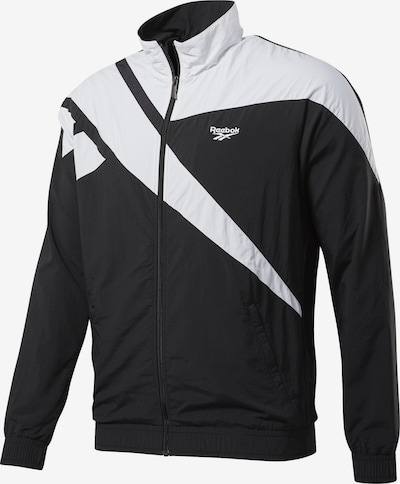 Reebok Classic Jacke in schwarz / weiß, Produktansicht
