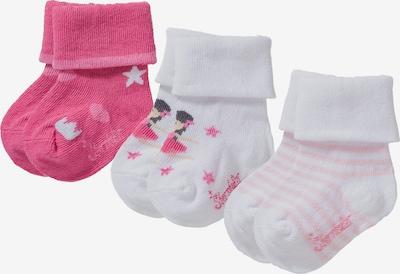 STERNTALER Socken in pastellorange / pink / weiß, Produktansicht