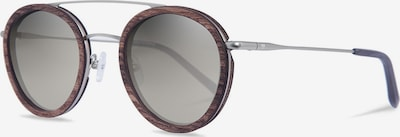 Kerbholz Sonnenbrille 'Berthold' in braunmeliert / silber, Produktansicht