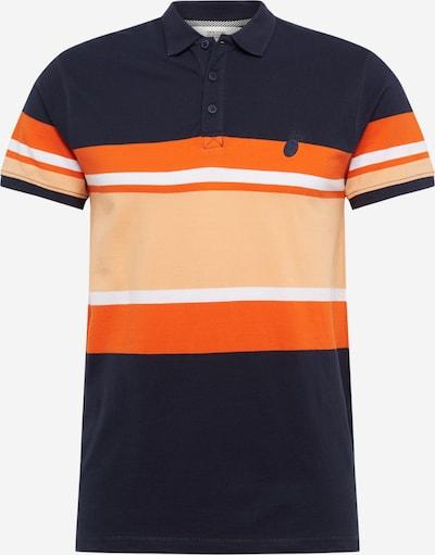 !Solid Polo 'Jaylon' in beige / dunkelblau / orange, Produktansicht