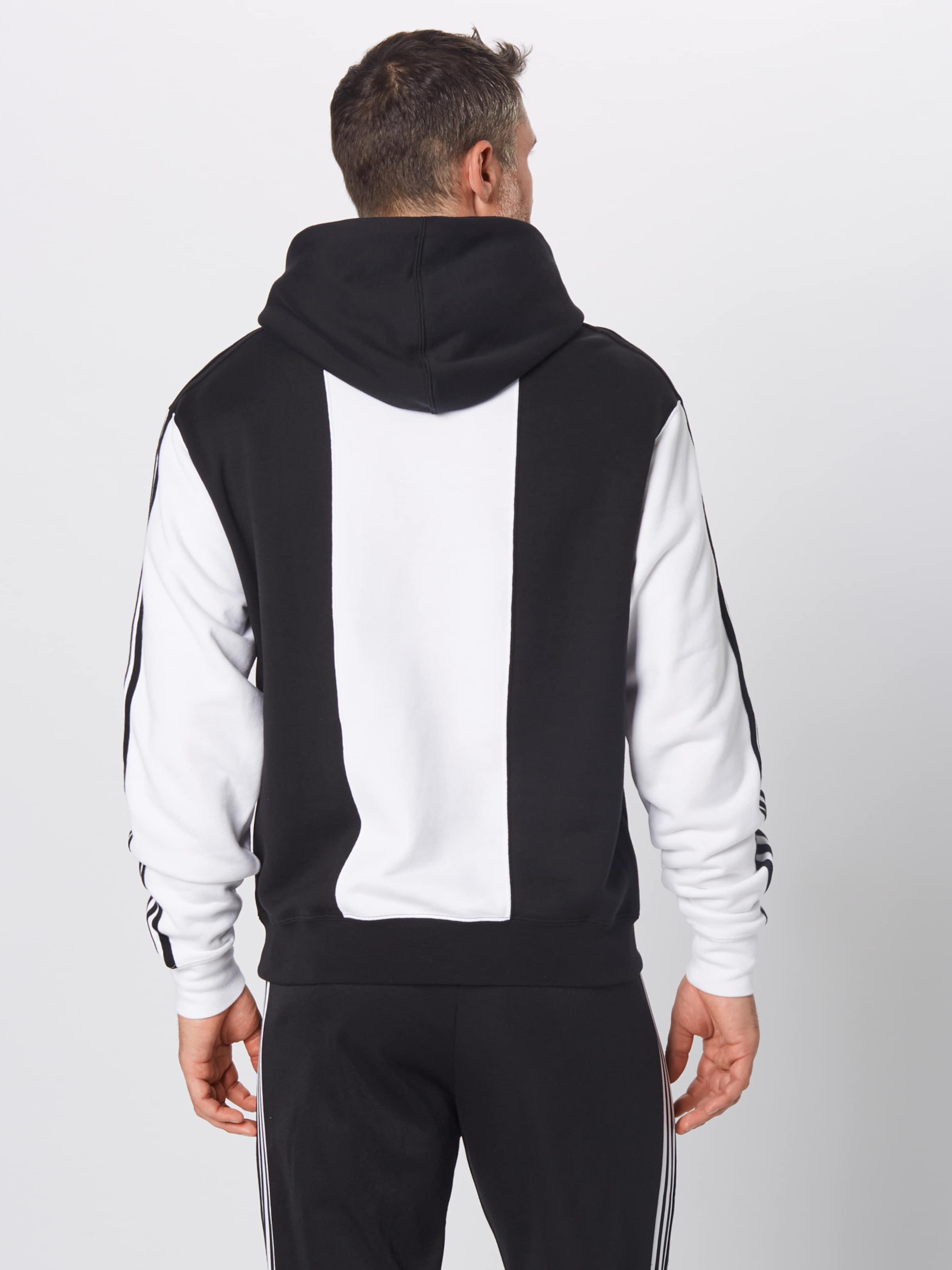 Hoodie SchwarzWeiß Court Trefoil' Adidas Originals 'off In 5R4j3ALq