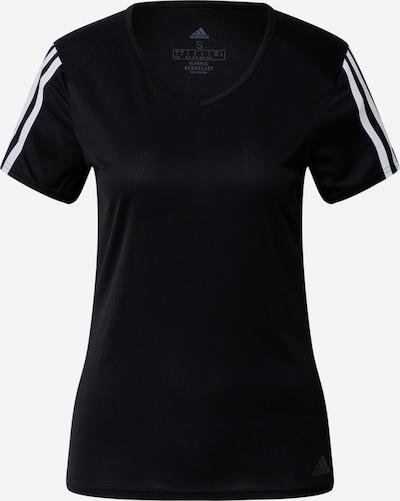 ADIDAS PERFORMANCE T-shirt fonctionnel en noir / blanc: Vue de face