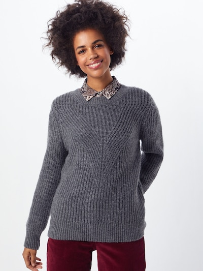 ONLY Pullover 'LOU' in grau, Modelansicht
