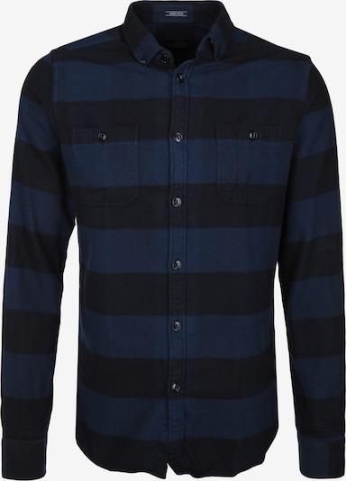 Dstrezzed Flanellhemd 'BIG BAKERY' in blau / schwarz, Produktansicht