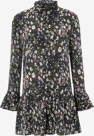 Aniston CASUAL Bluse in dunkelgrau / dunkelgrün / weiß, Produktansicht