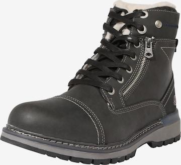 Dockers by Gerli Boots med snörning i svart