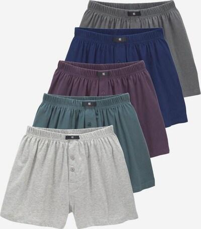 HIS JEANS Boxershorts in blau / grau / graumeliert / petrol / aubergine, Produktansicht