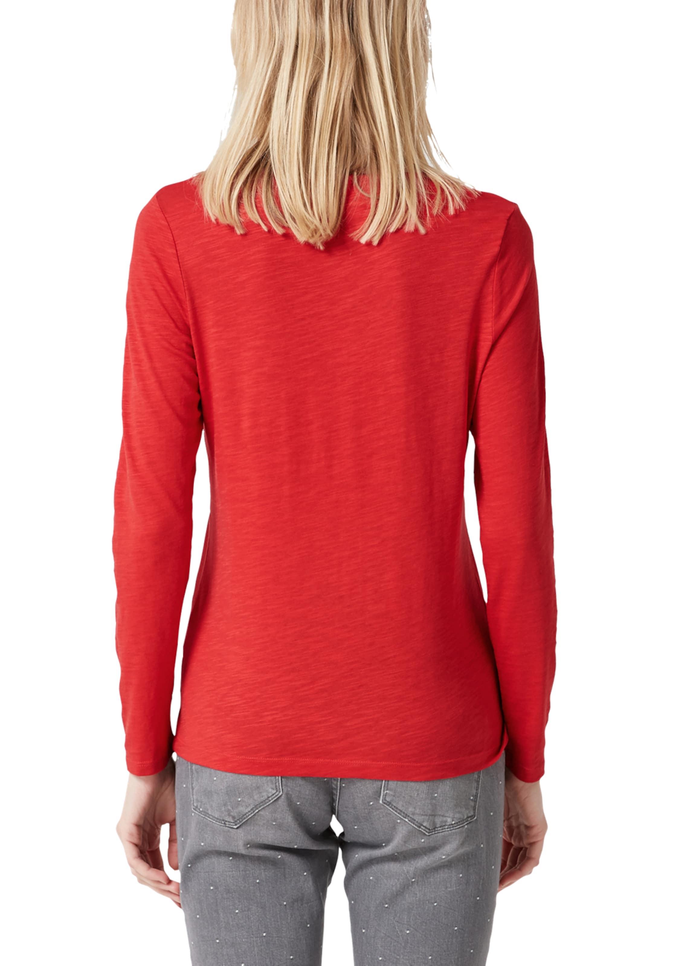 oliver Yarn' Label Shirt S Red 'slub In Hellrot SqUzMVp