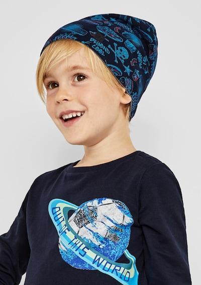 s.Oliver Junior Mütze in blau / türkis: Frontalansicht