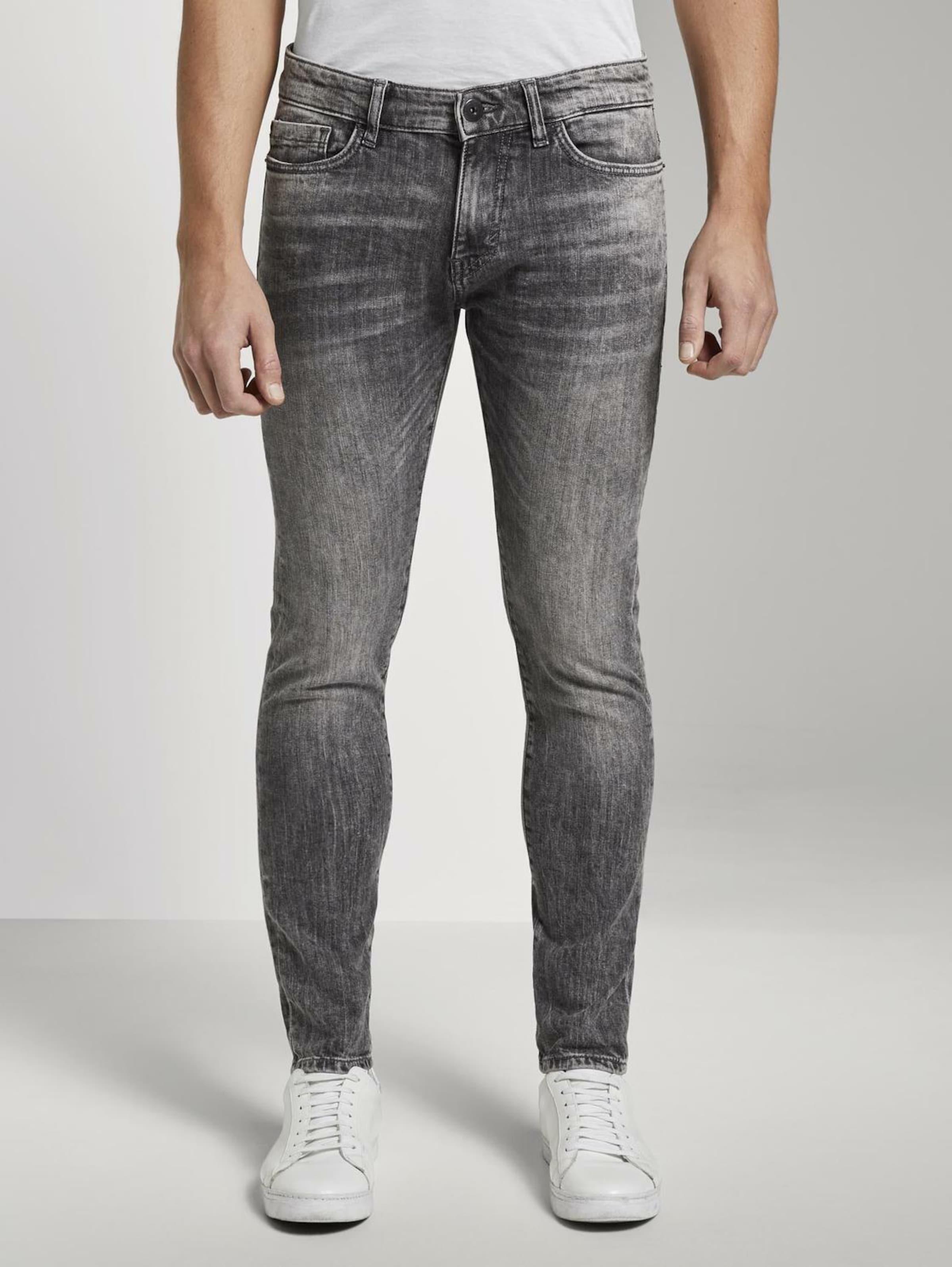 TOM TAILOR Jeans 'Troy' in grey denim Unifarben 1016696038