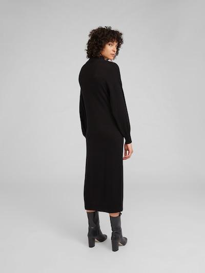 Megzta suknelė 'Idoia' iš EDITED , spalva - juoda: Vaizdas iš galinės pusės