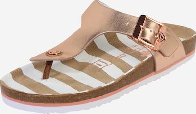 Flip-flops TOM TAILOR pe auriu - roz, Vizualizare produs